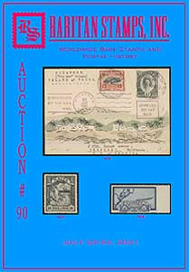 Catalogue of stamp auction